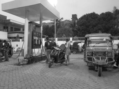 bihar: PETROL PUMP ACTIVITY AT PATNA, BIHAR, INDIA. SHOT AT PATNA, BIHAR, 13.09.12, 0555PM Editorial