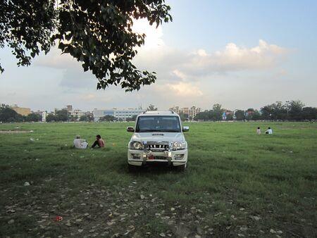 gandhi: ACTIVITIES AT GANDHI MAIDAN, PATNA. SHOT AT EVENING HOURS ON 10.10.12 AT GANDHI MAIDAN, PATNA, BIHAR, INDIA.