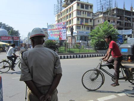 POLCE CONSTABLE.SHOT AT MORNING HOURS ON 10.12.2012 AT GANDHI MAIDAN, PATNA, BIHAR, INDIA