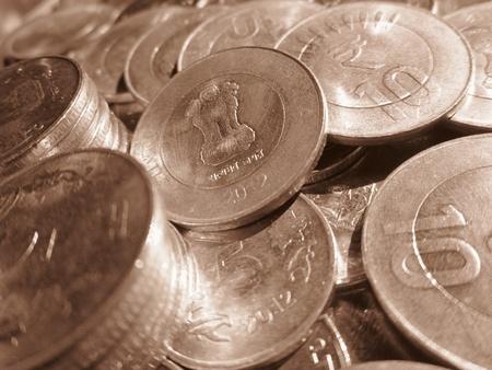 balanced budget: COINS Stock Photo