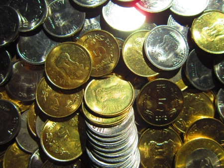 international trade commission: COINS SPREAD Stock Photo