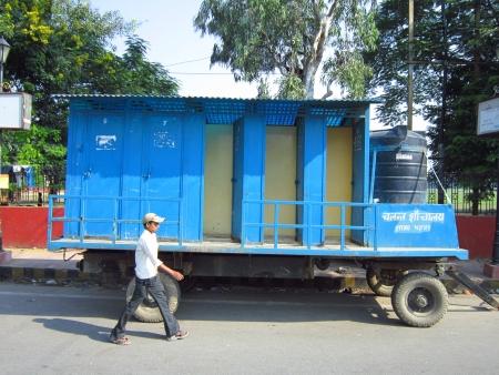 maidan: MOVEABLE TOILET. PEOPLE ACTIVITIES AT GANDHI MAIDAN. SHOT AT MORNING HOURS ON 16.10.2012 AT  GANDHI MAIDAN PATNA, BIHAR, INDIA Editorial