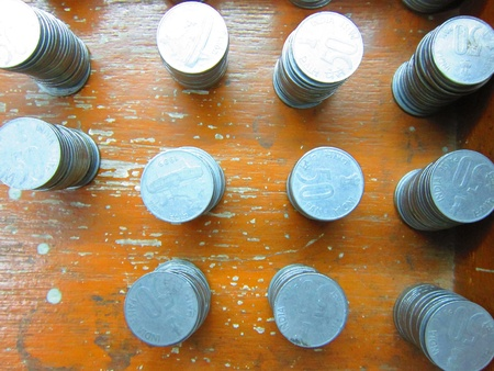 balanced budget: COINS STACKED
