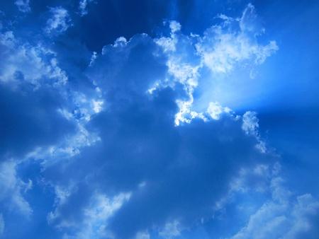 stupendous: VIVID BLUE CLOUDY SKY
