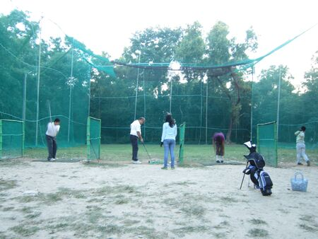 bihar: TRAINEES PRACTICING AT PATNA GOLF ACADEMY. SHOT AT AFTERNOON HOURS ON 31.10.12 AT PATNA, BIHAR, INDIA.