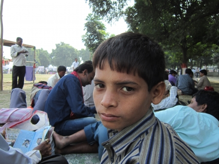 maidan: A BOY AT GANDHI MAIDAN FOR RALLY ON 02.11.12 ORGANISED BY TEMPORARY TEACHERS OF BIHAR AGAINST INEQUALITIES IN PAYMANT BETWEEN PERMANENT TEACHERS AND TEMPORARY TEACHERS. SHOT AT MORNING HOURS ON 02.11.12 AT PATNA, BIHAR, INDIA.