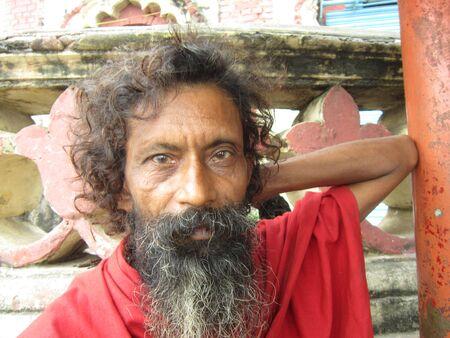 bihar: A SADHU AT PATNA. SHOT AT MORNING HOURS ON 03 NOVEMBER 2012 AT  PATNA, BIHAR, INDIA  Editorial