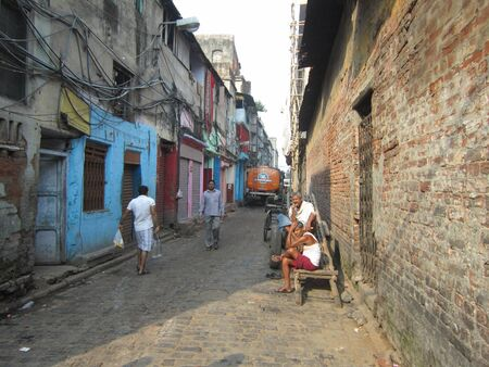 calcutta: A LANE IN CALCUTTA.SHOT AT CALCUTTA INDIA: MORNING HOURS ON NOVEMBER 10,2012. Editorial