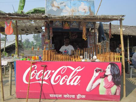 COCA COLA SHOP.SHOT AT VAISHALI, BIHAR, INDIA: AFTERNOON HOURS ON NOVEMBER 20,2012.