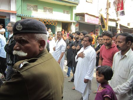 martyrdom: MUHARRAM PROCESSION .SHOT AT AFTERNOON HOURS AT PATNA, BIHAR, INDIA ON 25.11.12.