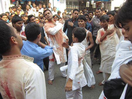 lamentation: MUHARRAM PROCESSION DURING RAMADAN. SHOT AT AFTERNOON HOURS ON 25,11.12 AT PATNA, BIHAR, INDIA