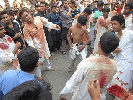 lamentation: MUHARRAM PROCESSION DURING RAMADAN AT PATNA, BIHAR. SHOT AT MORNING HOURS ON 25,11.12 Editorial