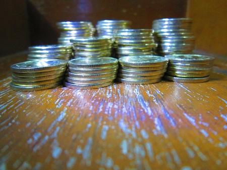 balanced budget: COINS SHOT FROM DISTANCE