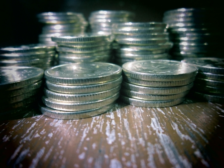 financial sector: COINS SHOT WITH TOY CAMERA MODE