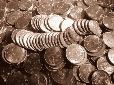 incertaininty: COINS SHOT IN SEPIA MODE