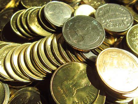 drawback: TAHILAND BHAT COINS Stock Photo