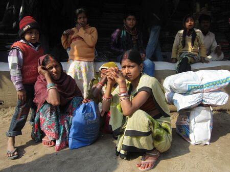 sonepur fair: WOMAN AT FAIR.SHOT DURING MORNING HOURS ON 02.12.12 AT SONEPUR FAIR, SONEPUR, BIHAR, INDIA.