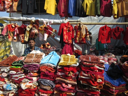 sonepur: CLOTHES SHOP.SHOT DURING MORNING HOURS ON 02.12.12 AT SONEPUR FAIR, SONEPUR, BIHAR, INDIA.