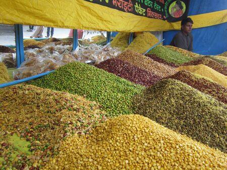 sonepur fair: MIXTURE SELL AT FAIR.SHOT DURING MORNING HOURS ON 02.12.12 AT SONEPUR FAIR, SONEPUR, BIHAR, INDIA.