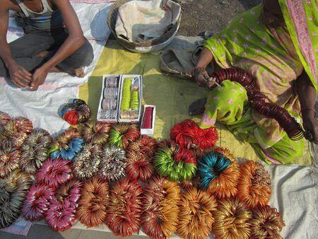 sonepur fair: BANGLES ON SALE .SHOT DURING AFTERNOON HOURS ON 02.12.12 AT SONEPUR FAIR, SONEPUR, BIHAR, INDIA.