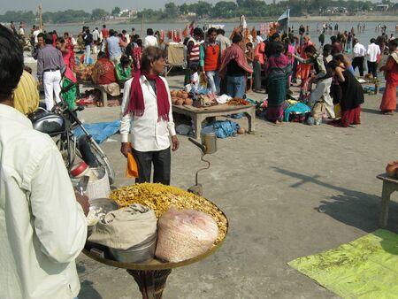 sonepur fair: RIVERBANK SCENE OF SONEPUR FAIR.SHOT DURING MORNING HOURS ON 02.12.12 AT SONEPUR FAIR, SONEPUR, BIHAR, INDIA.