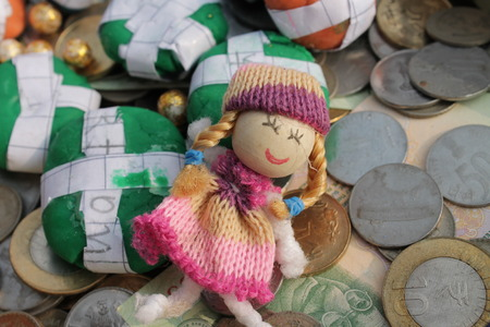 Indian Currency -Art.  Doll series. photo
