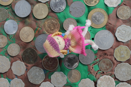 barter system: Indian Currency -Art.  Doll series.