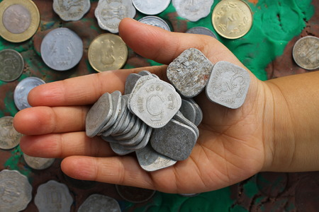 Indian currency. photo