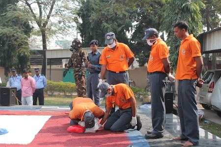 dated: Disaster management safety drill. Shot at Patna, Bihar on morning hours dated 16.11.2014.