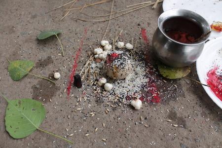 an obeisance: Pindidan, Hindu last rites at Punpun.