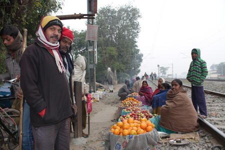 an obeisance: Pindidan, Hindu last rites at Punpun.  Shot at morning hours on 25.012,14 at Punpun, Bihar, India.