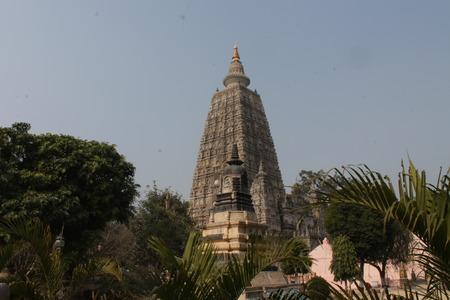 bodhgaya: Mahabodhi temple. Bodhgaya. Stock Photo