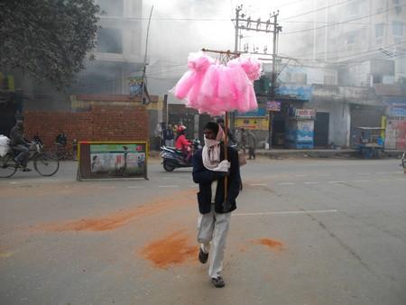 bihar: Pirmuhani Christian burial ground.Shot at Pirmuhani, Patna, Bihar, India on 20.01.15 morning foggy weather