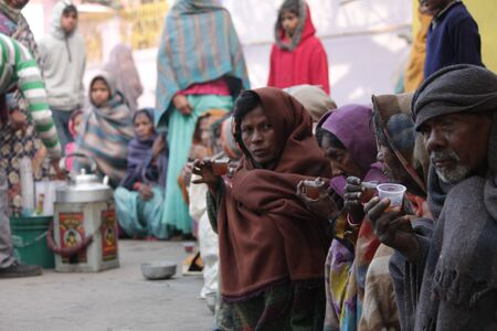 beggars: Beggars on road, Shot at Bodhgaya, India, afternoon hours on 26.12.14