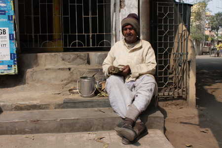 bihar: A man sales Bhang. Shot at Patna, Bihar, afternoon hours on 15.02.15. Editorial