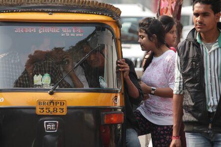 auto rickshaw: Travel auto rickshaw. Shot at morning hours at Gandhi Maidan,Patna, Bihar on 18.02.2015 Editorial