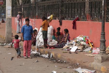 Travel Gandhi Maidan. Indian poor people. Shot at morning hours at Gandhi Maidan,Patna, Bihar on 18.02.2015
