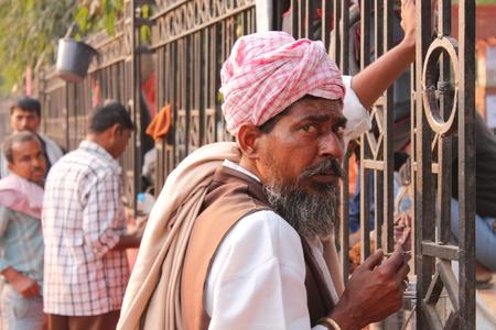 bihar: Indian homeless. Shot on 18.02.15,Afternoon hours at gandhi Maidan , Patna, Bihar, India.