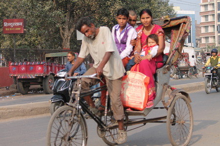maidan: Travel In Indian rickshaw. Shot at Gandhi Maidan, Patna, Bihar at afternoon hours on 19.02.2015. Editorial