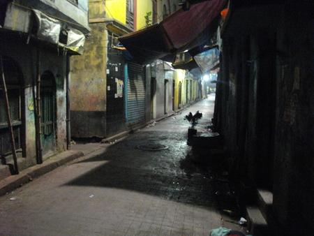 brothel: An empty street. Night life. Travel Sonagachi. Shot at Sonagachi, Kolkata, India on 08.03.15, night hours. Sonagachi is Asias largest red-light district.