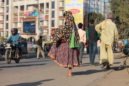 maidan: Indian poor. Street photo. Shot at Gandhi Maidan, Patna, India at afternoon hours on 11.03.15.