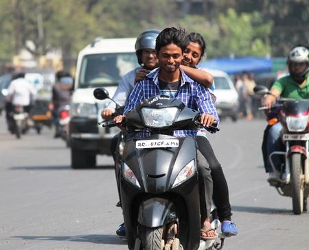 Unsafe riding, Shot at Gandhi Maidan, Patna on 13.03.2015 at afternoon hours. Editorial