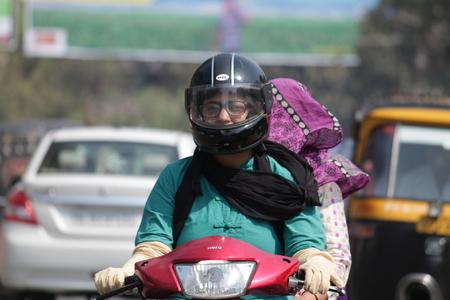risky love: Sicurezza di marcia. Girato a Gandhi Maidan, Patna su 20150313 alle ore pomeridiane.