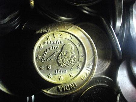 drawback: Coins. Stock Photo