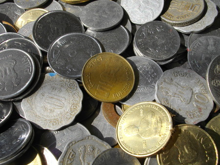 drawback: Indian coin. Stock Photo