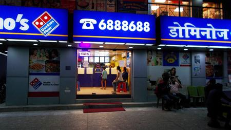 bihar: Dominos outlet Shot at evening hours on 28.06.15 at Patna, Bihar, India.