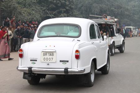 maidan: Shri Nitish Kumar, Chief Minister, Bihar during the 115th birth anniversary of Netaji Subhas Chandra Bose. Shot at South Gandhi Maidan, Patna, Bihar, India, Morning, 23rd January 2014.
