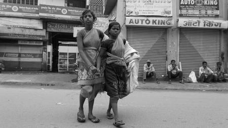 vagabond: Indian girl ragpickers. Shot at Bhattacharya rd. on 17.07.15 at morninghours.