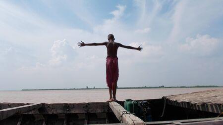 ganges: Travel river Ganges. Shot at Kalighat, Patna, Bihar, India on 18.07.15 at afternoon hours.