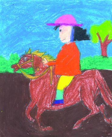 Horse rider. Stock Photo